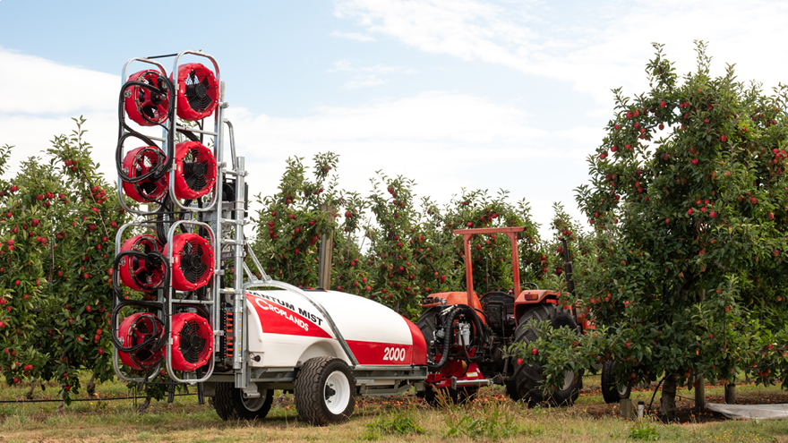 New sprayers for high density orchards
