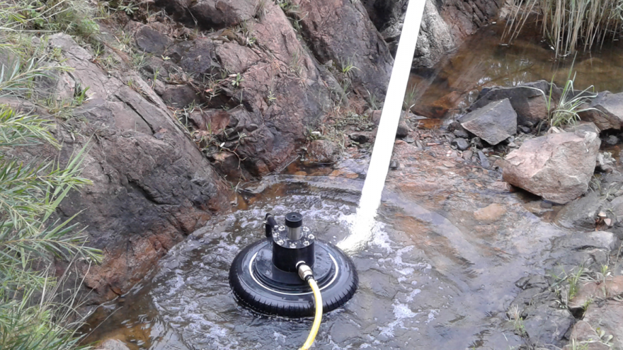 The Bunyip: hydro powered pump