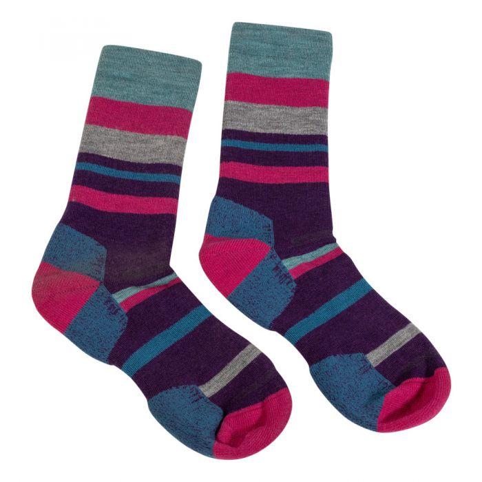 Extra Light Crew sock Point6 Kids Block Stripe