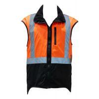 Styx Mill High Vis Sleeveless Oilskin Vest, Orange