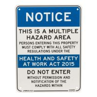 Multiple Hazard Area Sign 225 mm x 300 mm
