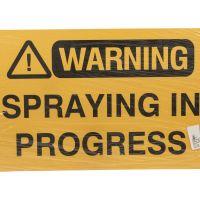Spray In Progress Sign 450 mm x 300 mm
