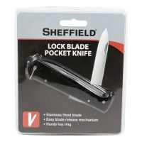 Sheffield Black Handle Locking Blade Pocket Knife