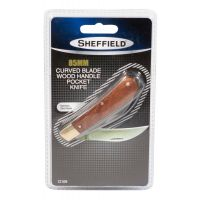 Sheffield Curved Blade Wood Handle Pocket Knife