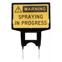 Spray In Progress Holder Sign 450 mm x 300 mm