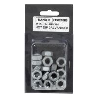 Walker Industries M10 Galvanised Nuts 24 pack