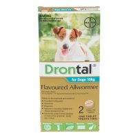 Drontal Flavoured Allwormer for Dogs 2 tabs