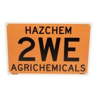 2WE Hazchem Sign 450 mm x 300 mm