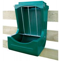 McKee Plastics Fence Mounted Hay and Grain Feeder Mini